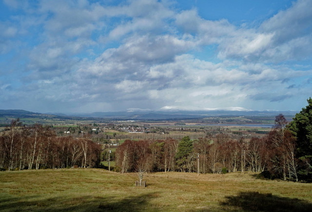 Looking from Newtonhill over Beauly to Ben Wyvis