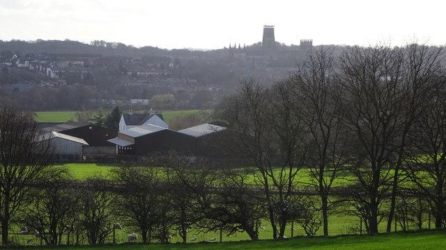 Durham over Frankland Farm