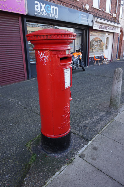 Postbox on Caroline Street, Hull