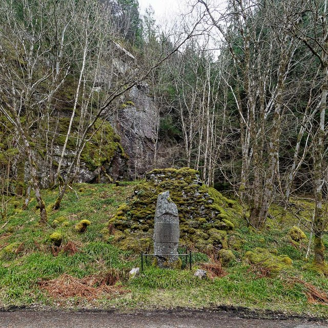 Monument James Bryce in the Pass of Inverfarigaig