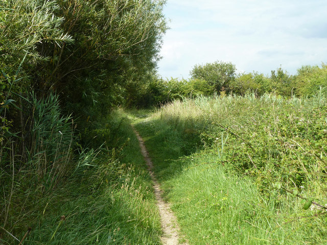 Footpath from East Tilbury station to sea wall