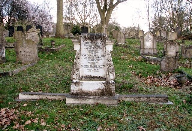 The grave of Herbert John Futter