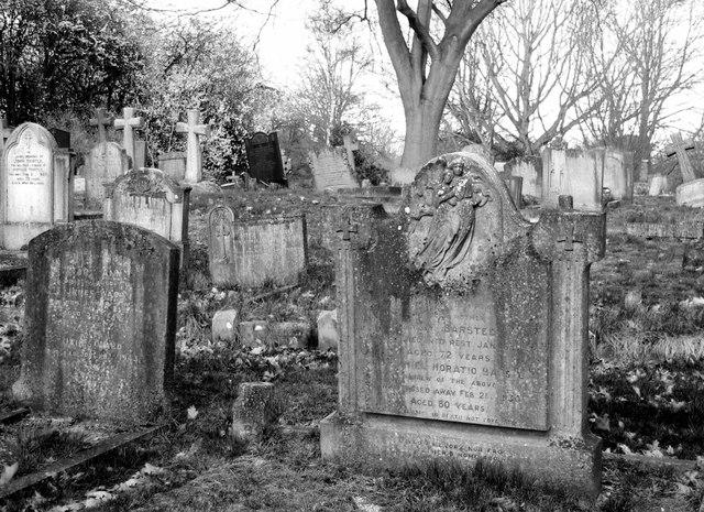Gravestones in the new part