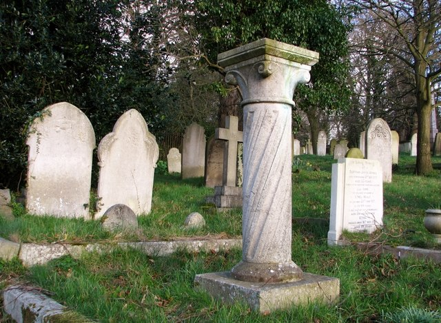 Gravestones by the burial chapel