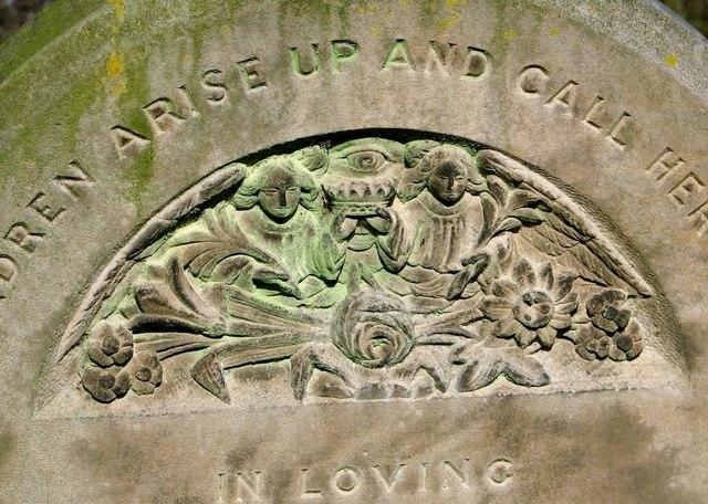 Late 1800s gravestone (detail)