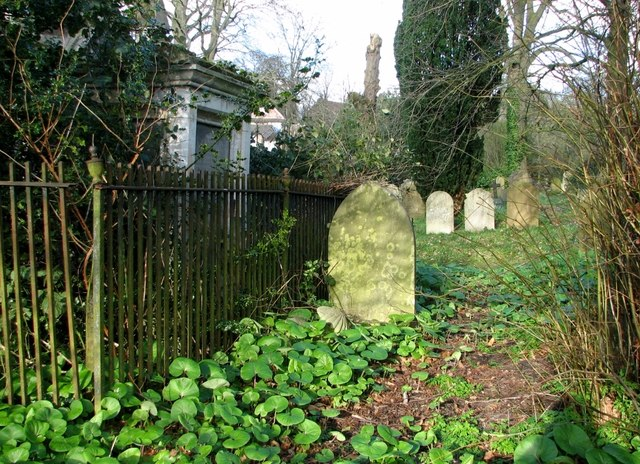 Graves adjacent to the burial chapel