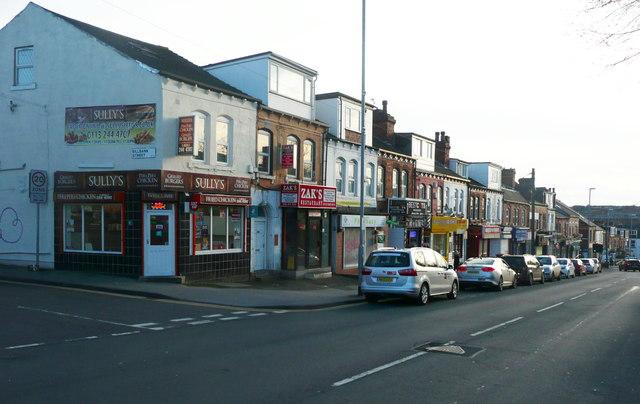 0ac088772 Shops, Woodsley Road, Burley, Leeds © Humphrey Bolton cc-by-sa/2.0 ...