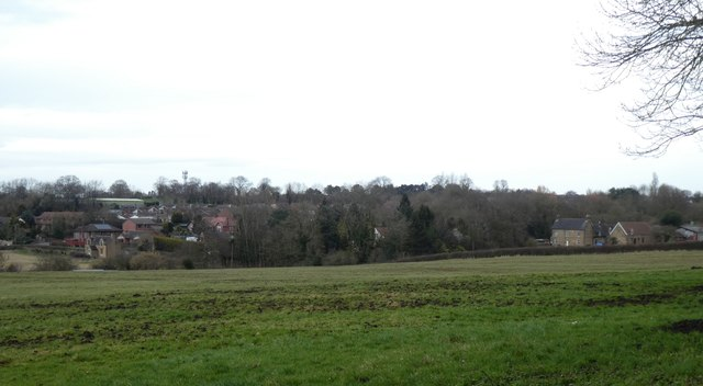 Field south of Swanwick and houses