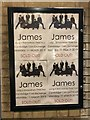 TL4458 : James - SOLD OUT poster outside Cambridge Corn Exchange by Richard Humphrey