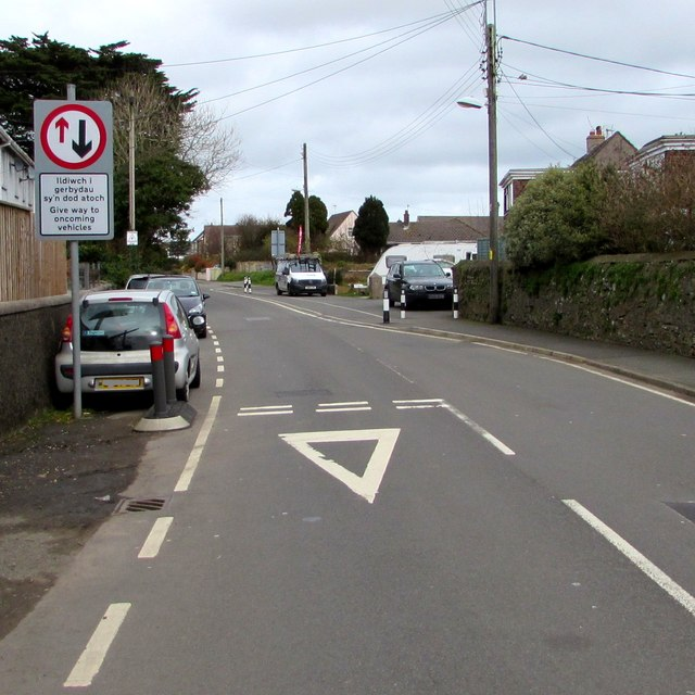 Traffic calming on Cardigan Road, Haverfordwest