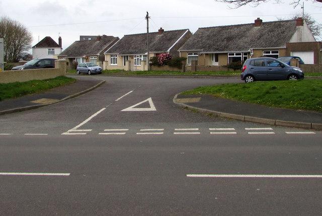 Dead-end part of Cardigan Road, Haverfordwest
