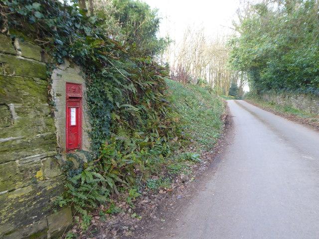 Postbox near Trelaske House