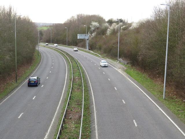 A21 near Knockholt railway station