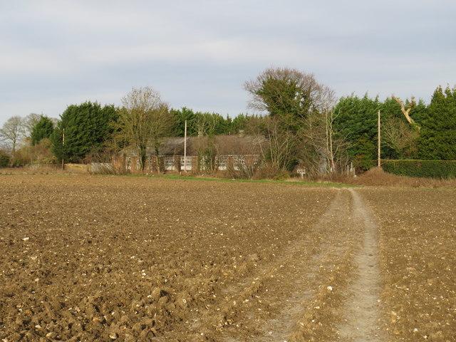 Public footpath near Maypole
