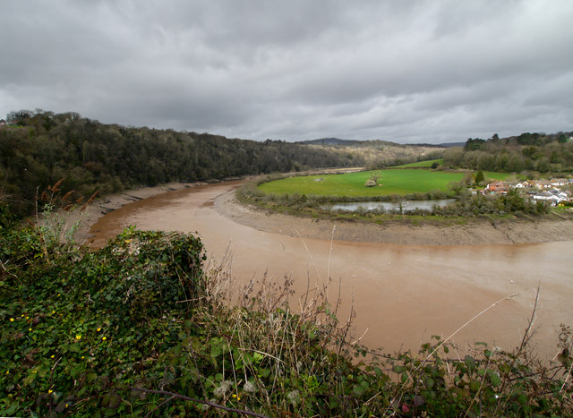 River Wye from Chepstow Castle