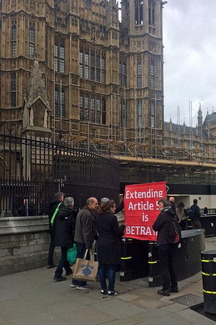 Protestor, Abingdon Street