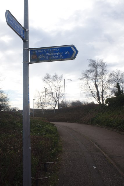 Signpost on the cycle route