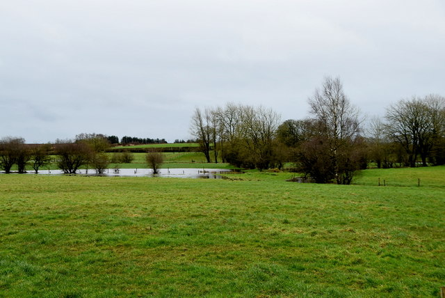 Water lying in fields, Cloghfin