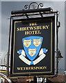 SJ4812 : Sign for the Shrewsbury Hotel by JThomas