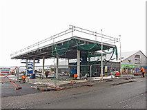 NG6423 : Petrol station progress by Richard Dorrell