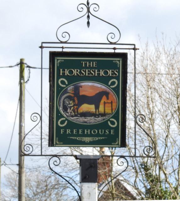 Sign of The Horseshoes, public house