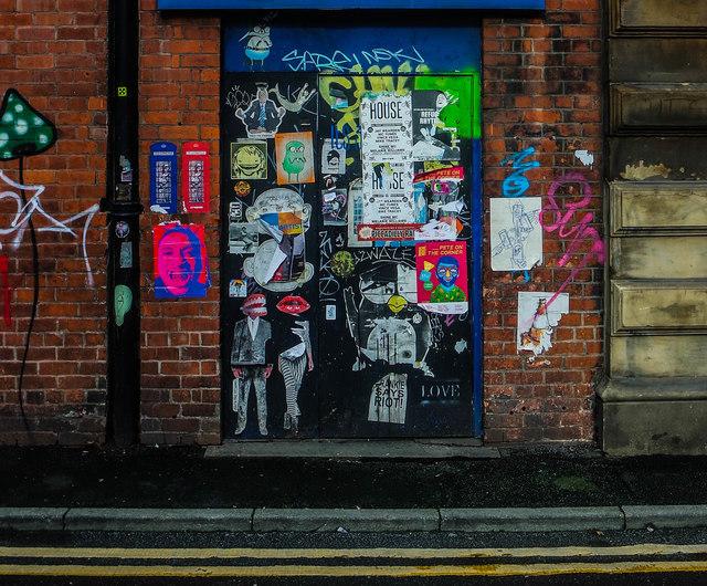Lever Street Graffiti, Central Manchester