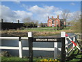 TA0753 : Elm  Tree  Farm  from  Brigham  Bridge  over  Driffield  Canal by Martin Dawes