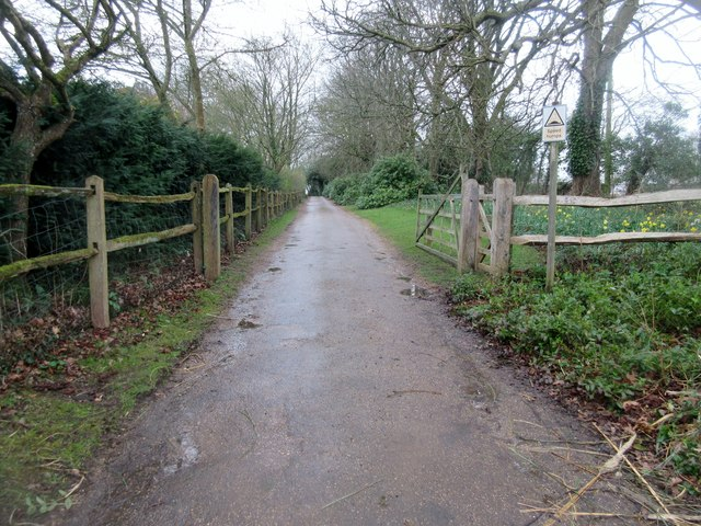 Driveway to Lee Place House and Farm