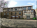 SE2235 : Half-timbered building at Springfield Mills, Bagley Lane by Stephen Craven