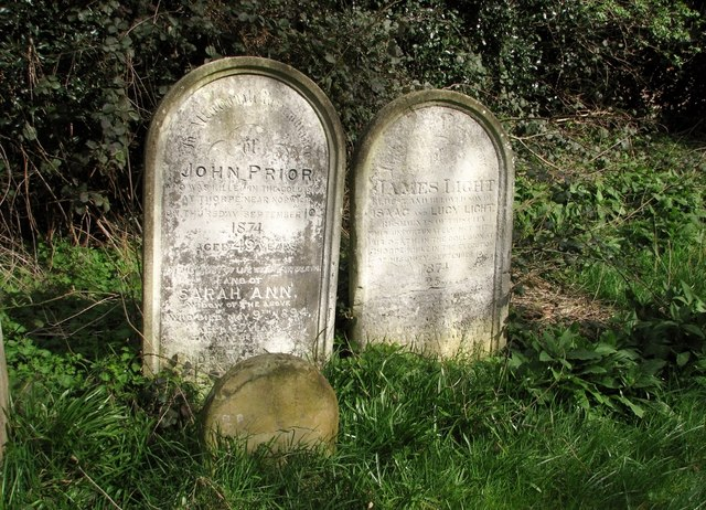 The graves of John Prior and James Light