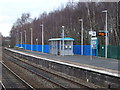 SJ5441 : Platform 1, Whitchurch Railway Station by JThomas