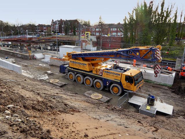 Metrolink Construction at Crumpsall, March 2019