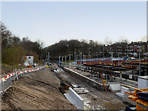 SD8402 : Construction Work at Crumpsall Metrolink Station, March 2019 by David Dixon