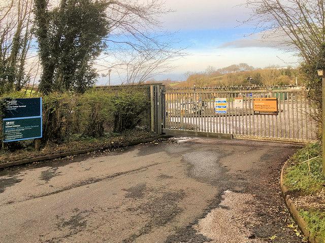 Entrance to Lancaster Remote Tanker Terminal