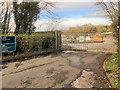 SD4659 : Entrance to Lancaster Remote Tanker Terminal by David Dixon