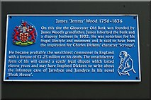 SO8318 : Blue plaque to James 'Jemmy' Wood by Philip Halling