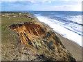 SZ1790 : Subsiding Cliff, Hengistbury Head by Des Blenkinsopp