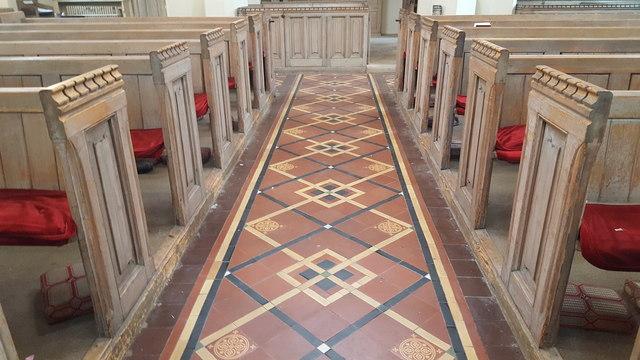 Interior of St Bartholomew the Less, London