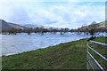 SH7864 : Flooded fields beside A470 road (2) by Richard Hoare