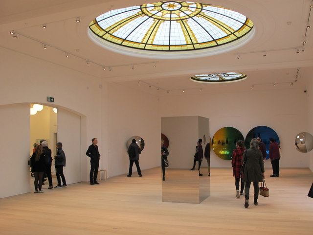 Pitzhanger Gallery interior with Anish Kapoor exhibition