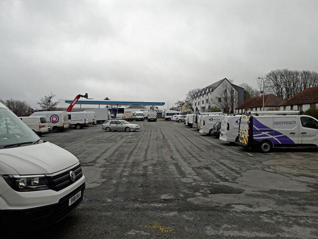 A lot of vans