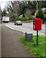 ST2687 : Queen Elizabeth II postbox and Royal Mail drop box alongside Caerphilly Road, Bassaleg by Jaggery