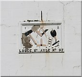 NO5603 : Masonic lodge plaque by Richard Sutcliffe