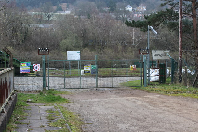 Entrance to mine water treatment plant