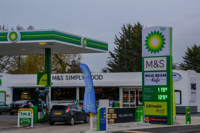 Norton Fitzwarren : BP Petrol Station