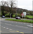 ST2583 : Warning sign - end of dual carriageway, Castleton by Jaggery