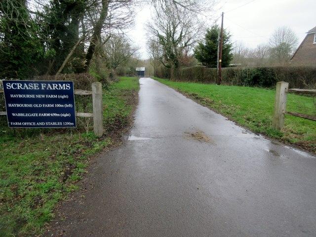 Bridleway/ Lane to Lee Park House