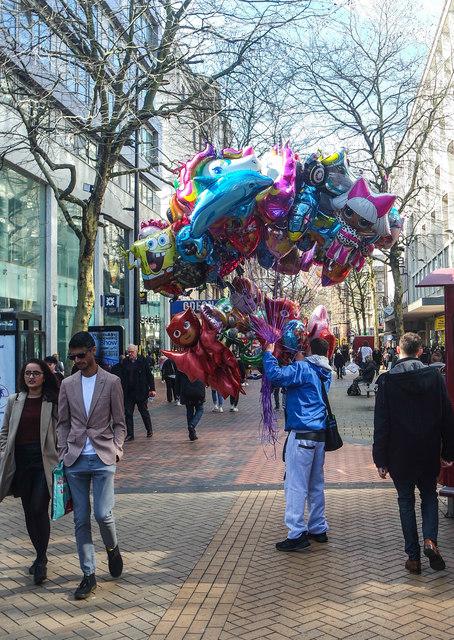 Balloon vendor, New Street, Birmingham