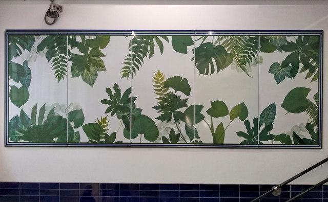 Leaf Pattern Artwork at Sloane Square Underground Station