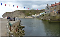 NZ7818 : Staithes Beck and harbour at Staithes by Mat Fascione